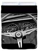 1965 Lotus Elan S2 Steering Wheel Emblem Duvet Cover by Jill Reger
