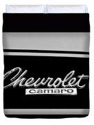 1967 Chevrolet Camaro Emblem Duvet Cover