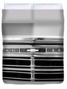 1967 Chevrolet Chevelle Malibu Grille Emblem Duvet Cover