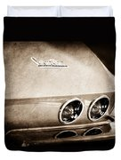 1967 Chevrolet Corvette Taillight Duvet Cover