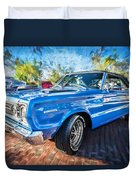 1967 Plymouth Belvedere Gtx 440 Painted  Duvet Cover