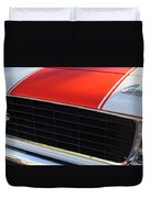 96 Inch Panoramic -1969 Chevrolet Camaro Rs-ss Indy Pace Car Replica Grille - Hood Emblems Duvet Cover
