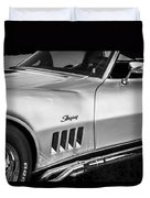 1969 Chevrolet Corvette 427  Bw Duvet Cover
