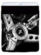 1969 Ford Mustang Mach 1 Steering Wheel Duvet Cover by Jill Reger