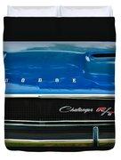1970 Dodge Challenger Rt Convertible Grille Emblem Duvet Cover