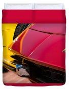 1971 Ferrari 365 Gtb-4 Daytona Spyder Hood Emblem Duvet Cover
