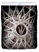 1972 Maserati Ghibli 4.9 Ss Spyder Wheel Emblem Duvet Cover