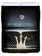 1972 Maserati Ghibli Grille - Hood Emblems Duvet Cover