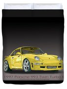 1997 Porsche  993 Twin Turbo Duvet Cover