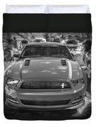 2013 Ford Mustang Gt Cs Painted Bw Duvet Cover