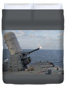 A Close-in Weapons System Is Fired Duvet Cover