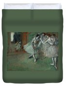 A Group Of Dancers Duvet Cover
