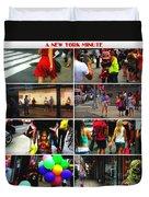 A New York Minute Duvet Cover