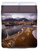 A Night View Of The Victoria And Alfred Duvet Cover