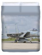 A Royal Saudi Air Force F-15c At Nancy Duvet Cover