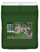 A Seat By The Flowers Duvet Cover