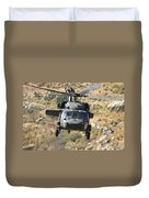 A Uh-60l Yanshuf Helicopter Duvet Cover