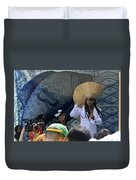 A View Of Carlinhos Brown At The 2009 Cleansing Of 46th Street Duvet Cover