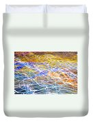Abstract Background - Citylights At Night Duvet Cover
