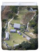 Aerial Near Jekyll Island Duvet Cover