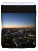 Aerial View Of Melbourne Duvet Cover
