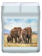 African Elephants Duvet Cover