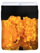 African Marigold Named Crackerjack Gold Duvet Cover