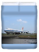 Air China Cargo Boeing 747 Duvet Cover
