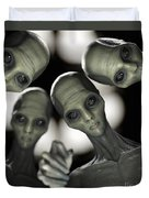 Alien Abduction Duvet Cover
