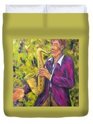 All That Jazz, Saxophone Duvet Cover