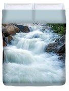 Alluvial Fan Falls On Roaring River In Rocky Mountain National Park Duvet Cover