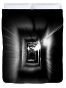 Altered Image Of A Tunnel Leading Out Of The Catacombs In Paris France Duvet Cover