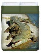 American Crocodile Duvet Cover
