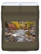 American Fork Canyon Creek In Autumn - Utah Duvet Cover