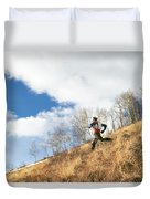 An Adult Male Trail Running Duvet Cover
