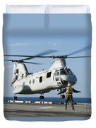 An Aviation Boatswains Mate Directs Duvet Cover