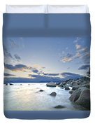 An Evening At Tahoe Duvet Cover