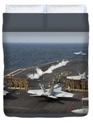 An Fa-18 Hornet Launches Duvet Cover