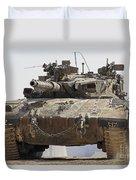An Israel Defense Force Merkava Mark II Duvet Cover