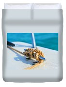 Anchor Line Duvet Cover by Laura Fasulo