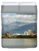 Anchorage Skyline Duvet Cover