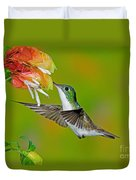 Andean Emerald Hummingbird Duvet Cover