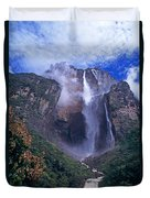 Angel Falls In Canaima National Park Venezuela Duvet Cover