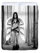 Angel In The Forest Duvet Cover