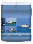 Antibes - Superyachts Of Billionaires Duvet Cover