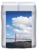April Bridge In Lisbon Duvet Cover