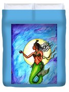 Arania Queen Of The Black Pearl Duvet Cover