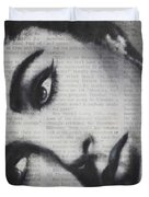 Art In The News 15-elizabeth Duvet Cover