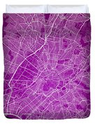 Athens Street Map - Athens Greece Road Map Art On Color Duvet Cover