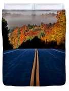 Autumn Colors And Road  Duvet Cover